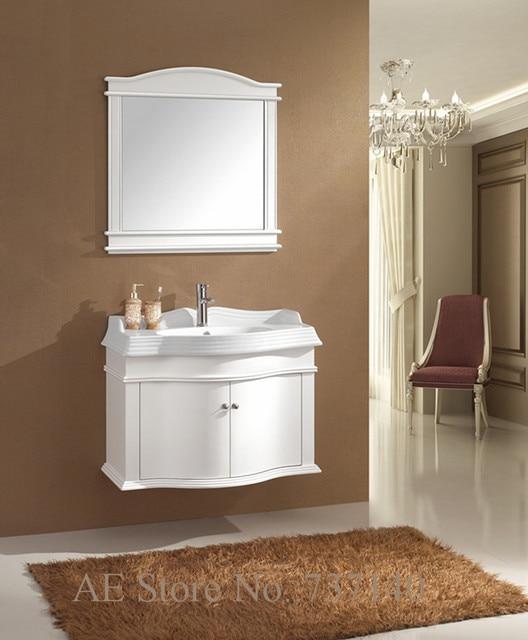 US $345.0  Bianco vanity cabinet nuovo stile legno lavabo mobiletto del  bagno rovere armadio mobili agente di acquisto prezzo all\'ingrosso in  Bianco ...