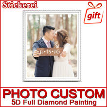 hot deal buy photo custom! private custom! 5d diy diamond painting! make your own diamond painting full square diamond rhinestone embroidery
