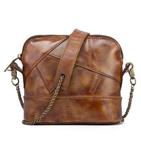 Genuine Cowhide Leather Vintage Retro Style Crossbody Small Handbag Shoulder Sling Messenger Bag For Girl Female