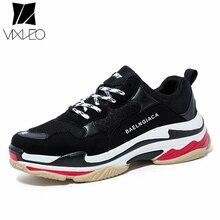 VIXLEO 2018 남성 캐주얼 슈즈 블랙 레드 블루 솔로몬 편안한 통기성 유니섹스 신발 통기성 아웃 도어 슈즈 36-46 Triple-S