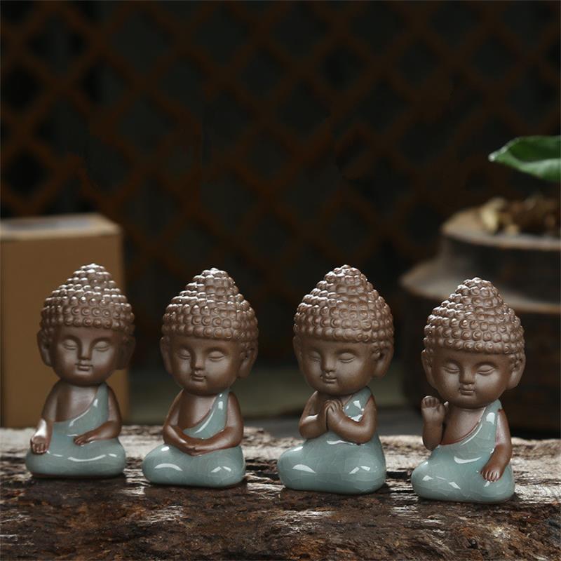 Buddha statue figurine räuchergefäß dekoration mönch tee pet auto zubehör bonsai garten tathagata indien yoga mandala