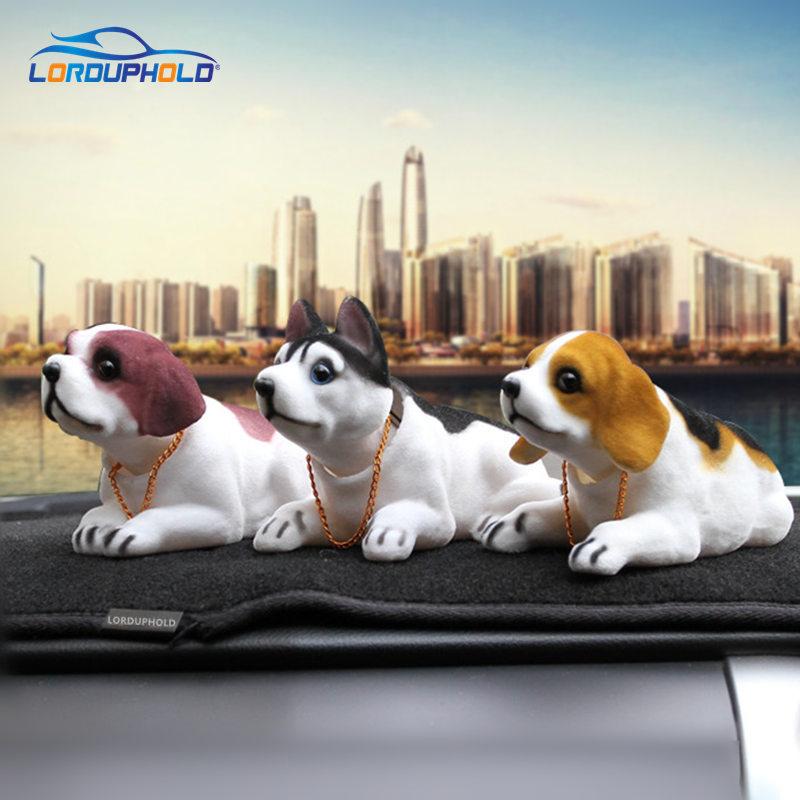 מכונית מצחיק חמוד בובות כלב לנער ראש צעצוע Nodding סימולציה רועד כלבים עבור קישוט רכב ריהוט פריטים אוטומטי