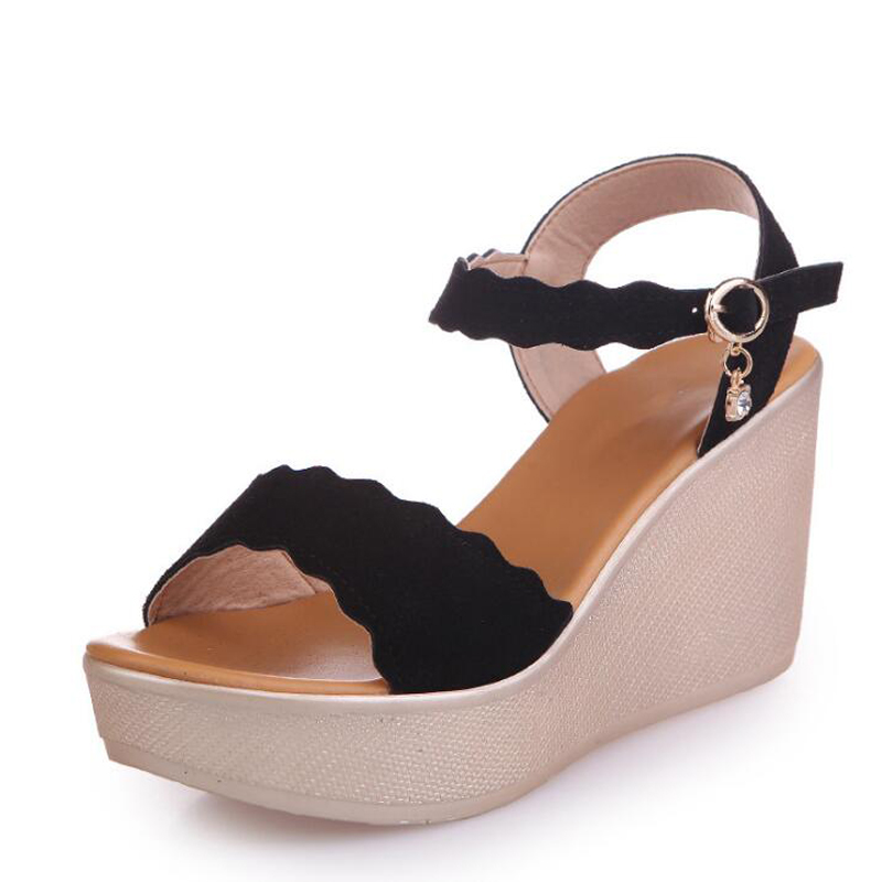 New Arrival Ladies Shoes 2018 Women Sandals Summer Open Toe Fashion Platform High Heel Wedges Sandals Female Shoes Zapatos Mujer facndinll new women summer sandals 2018 ladies summer wedges high heel fashion casual leather sandals platform date party shoes