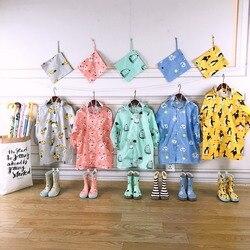 Celveroso casaco infantil impermeável de poliéster, blusa de desenho animado para crianças, jaqueta estilo capa de chuva para meninos e meninas