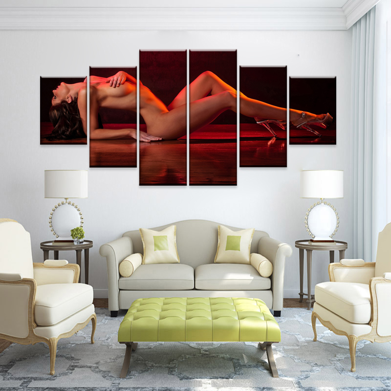 Online Shop Modern Canvas Cuadros Decoracion Wall Pictures For Living Room  Painting Multi Panel Cuadro Decorative Large Nude (No Frames) | Aliexpress  Mobile