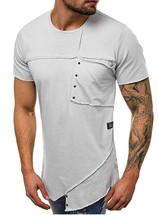 2019 new hip hop streetwear short sleeve t shirt Men patchwork basic tops amp tees o neck male clothing in T Shirts from Men 39 s Clothing
