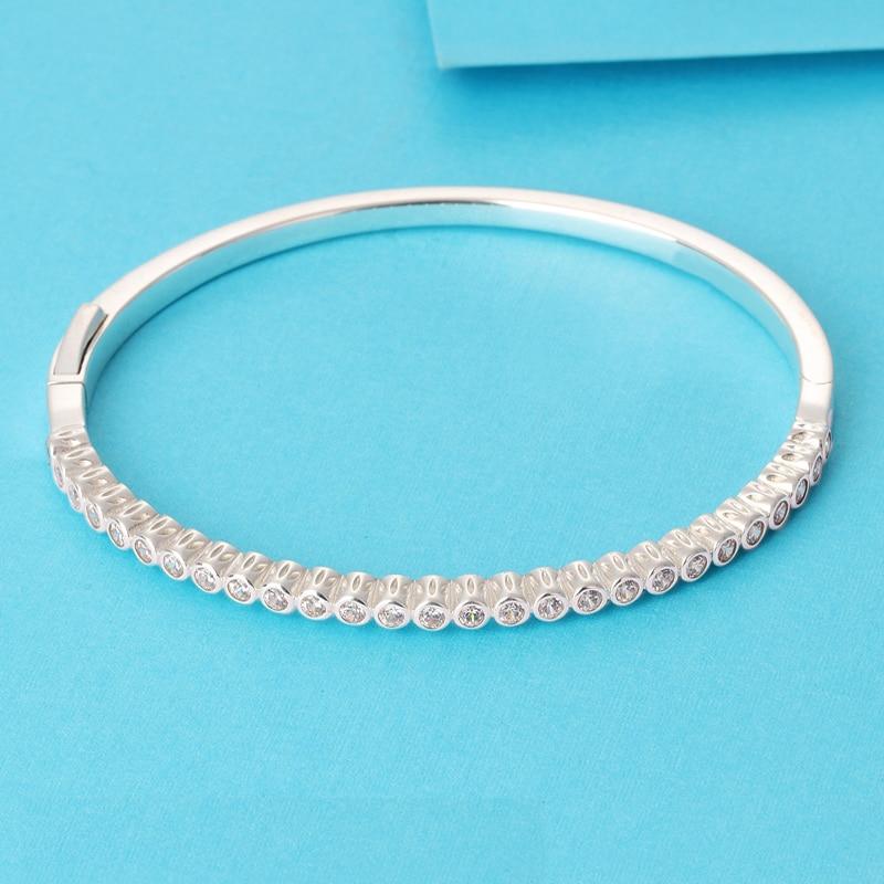 LS High Quality Real 925 SilverTimeless Elegance Bangle Fit Original Charms Beads Pulseira Encantos 100 Fine