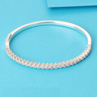 LS High Quality Real 925 SilverTimeless Elegance Bangle Fit Original Charms Beads Pulseira Encantos 100 Fine