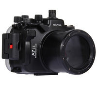 For Sony A7 II A7S A7R Mark II 28 70mm A7M2 40M 130ft Waterproof Dimming Camera Case Diving Underwater Photography Equipment