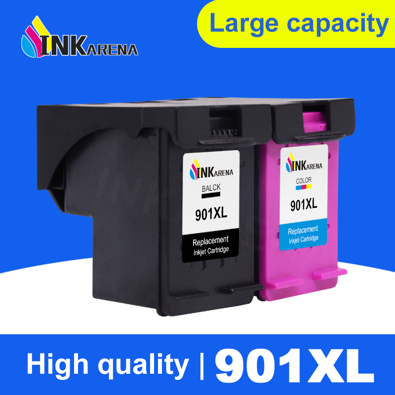 INKARENA <font><b>901</b></font> Refilled Ink Cartridge Replacement for <font><b>HP</b></font> <font><b>901</b></font> <font><b>XL</b></font> 901XL Officejet 4500 J4500 J4540 J4550 J4580 J4640 J4680c Printer image