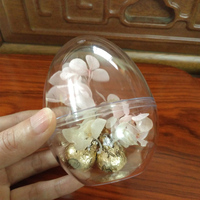Flat Bottom Egg Shape Transparent Ball Candy Chocolates Box Christmas Wedding Decorations Home Party Gift Boxes