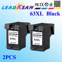 2x 63XL compatible con cartuchos de tinta negra hp63 reemplazo para 63xl DeskJet 1112/2130/2132/3630/3632