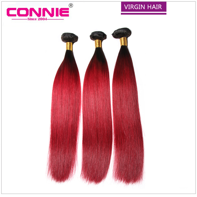 Us 173 51 Red Ombre Straight Virgin Hair Weave Two Tone Color Brazilian Hair Extension 1b Red Brazilian Virgin Hair Straight Ombre Bundles On