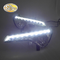 SNCN LED Daytime Running Light For Kia Sportage 2010 2013 2014 2015 Car Accessories Waterproof ABS