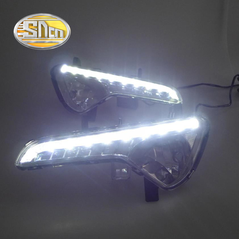 SNCN LED Daytime Running Light For Kia Sportage 2010 - 2013 2014 2015,Car Accessories Waterproof ABS 12V DRL Fog Lamp Decoration sncn led daytime running light for ford f 150 svt raptor 2010 2014 car accessories waterproof abs 12v drl fog lamp decoration