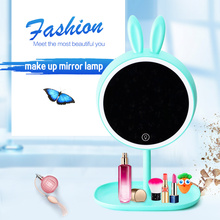 LED Touch Screen Makeup Mirror Professional Vanity Mirror Lamp With LED Lights Health Beauty Adjustable Countertop 180 Rotating