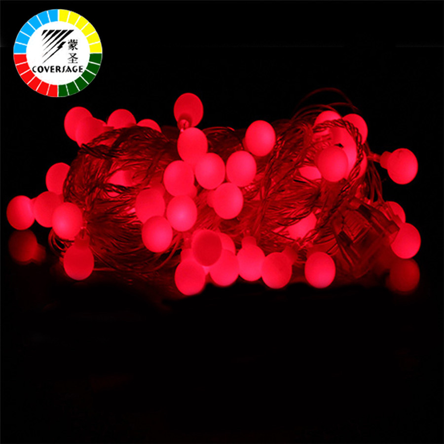 Coversage 10M100 Led Festoon Juletræ Garland String Xmas Decoration - Ferie belysning - Foto 3