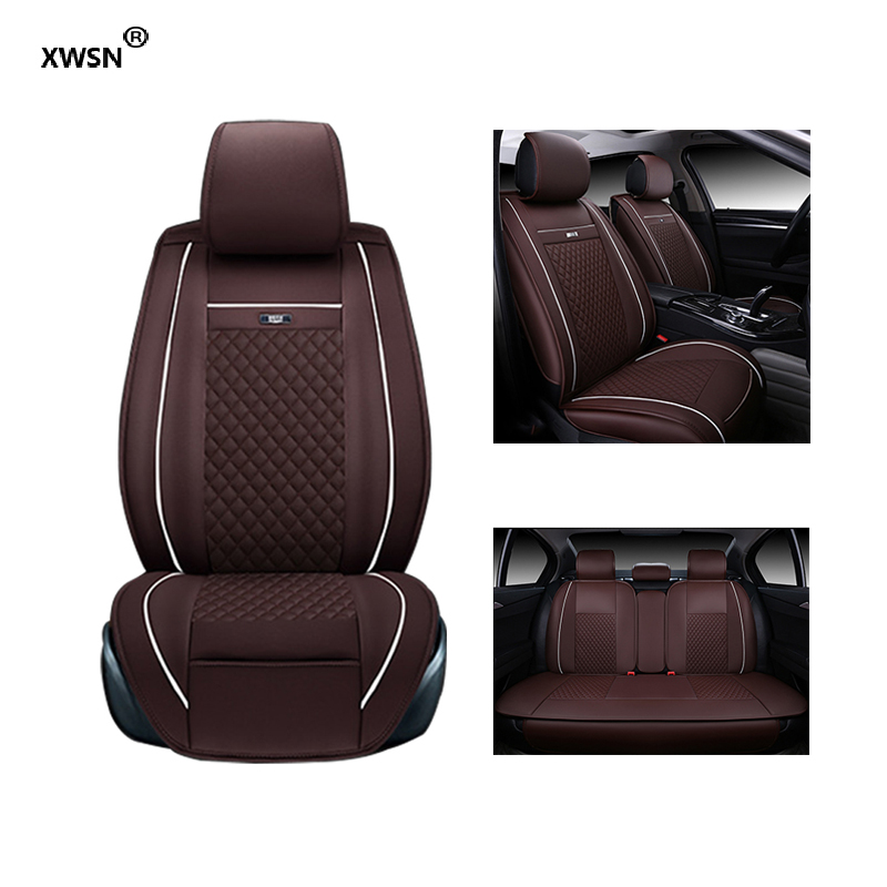 XWSN Special leather car seat cover for Nissan X-TRAIL QASHQAI LIVINA GENISS SYLPHY TEANA TIIDA GTR Bluebird car accessories for nissan paladin qashqai x trail murano red black brand luxury car leather seat cover front
