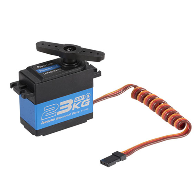 ¿PowerHD WP 23KG 75g/23 kg/? 12 segundos de alta resistencia engranaje de acero resistente al agua Servo Digital para 1/10 RC Control remoto coche barco-in Partes y accesorios from Juguetes y pasatiempos    3