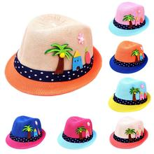 Kids Hat Summer Cartoon Breathable Straw Baby Boy Girl Children Beach 2019 Fashion