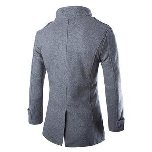 Image 4 - Drop verschiffen herbst männer staub mantel woolen mantel slim fit outwear 2 farben M 5XL AYG118