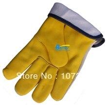 Теплая зима водителя кожа делюкс анти-холодное кожаных перчаток работы