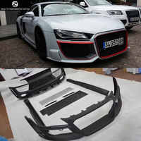 R8 FRP Car body kit Unpainted front bumper rear bumper side skirts front grills for Audi R8 Regula style 08-15