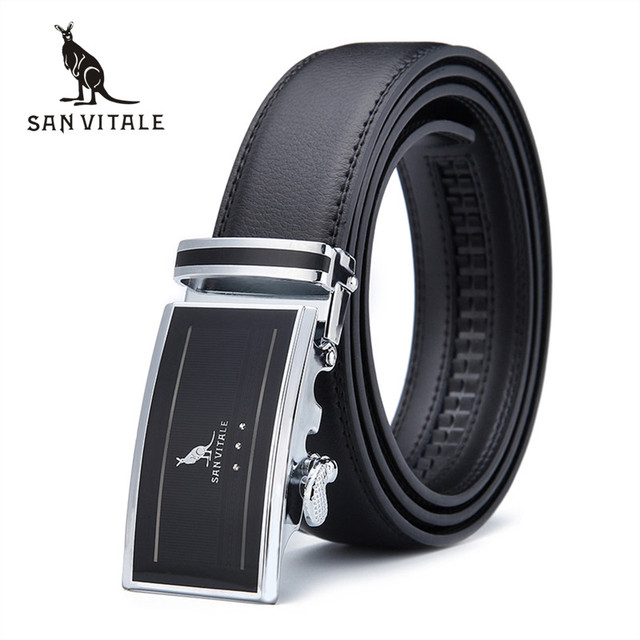 2017 New men's Fashion leather black mens belts for men luxury brand designer belts for male Top quality strap free shipping