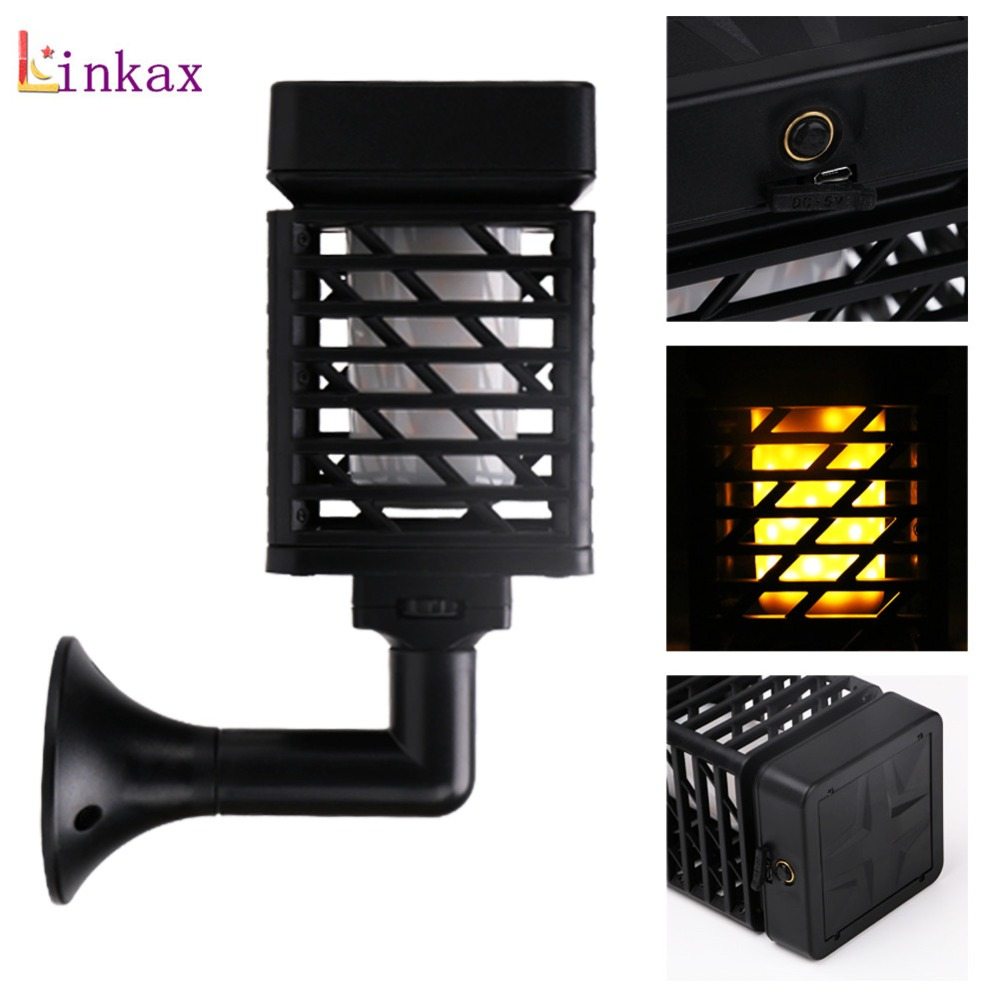 Usb Charging Solar Flame Flickering Garden Led Light 96pcs