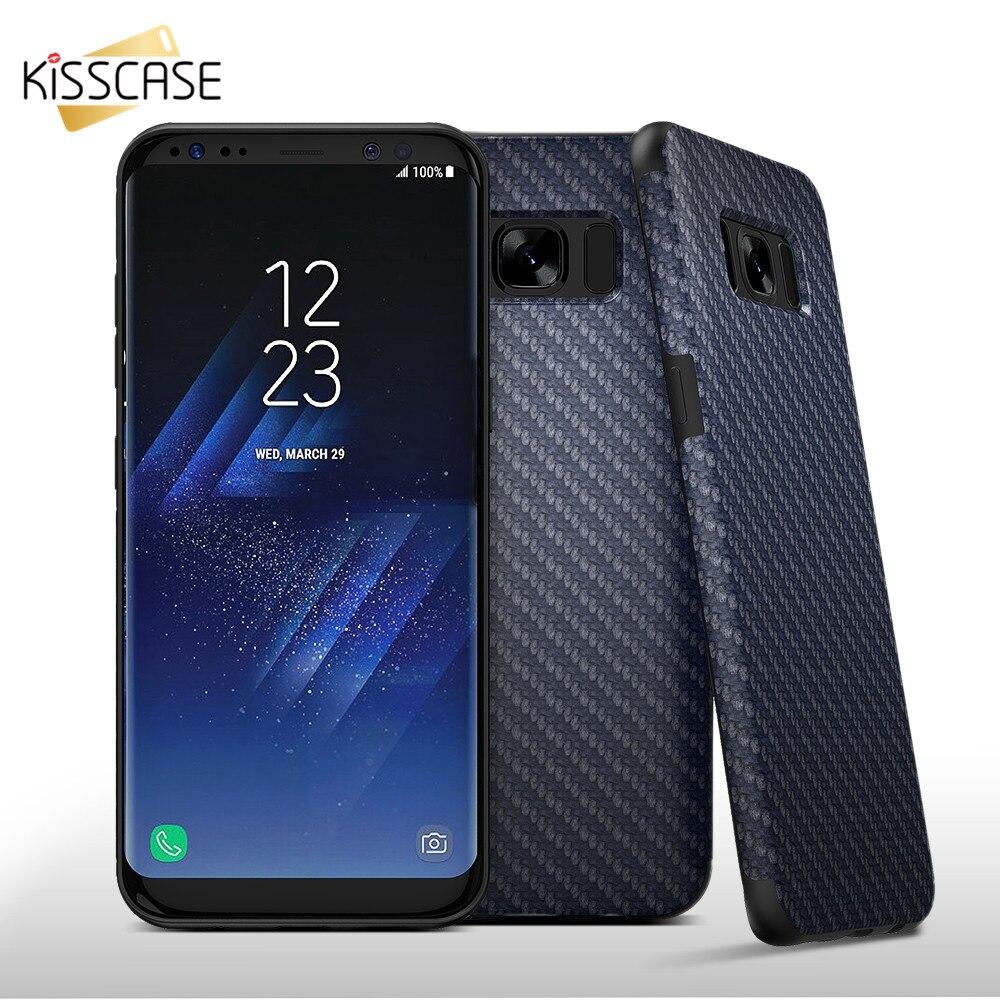 KISSCASE Retro Cajas Del Teléfono Cubierta de Fibra De Carbono Para Samsung Gala