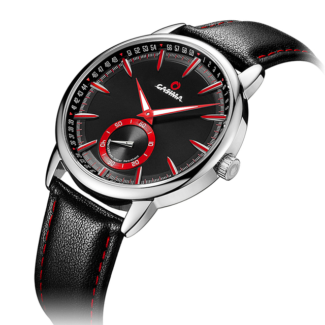 CASIMA Leather Mens Watch Top Brand Luxury
