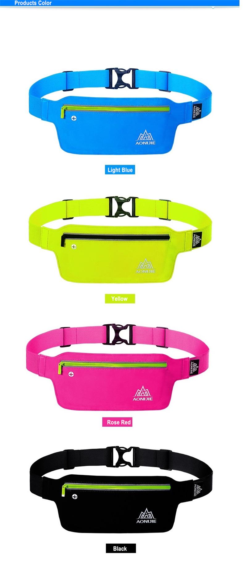 AONIJIE Runnning Waist Bag Men Women Sport Waist Pack Jogging Gym Fitness Running Belt Bag Phone Holder Sport Accessories 11