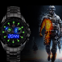 TVG Men Watch Quartz Wrist Watches Dress Male LED Clock Famous Luxury Brand Stainless Steel Quartz-watch Relogio Gift Boxes