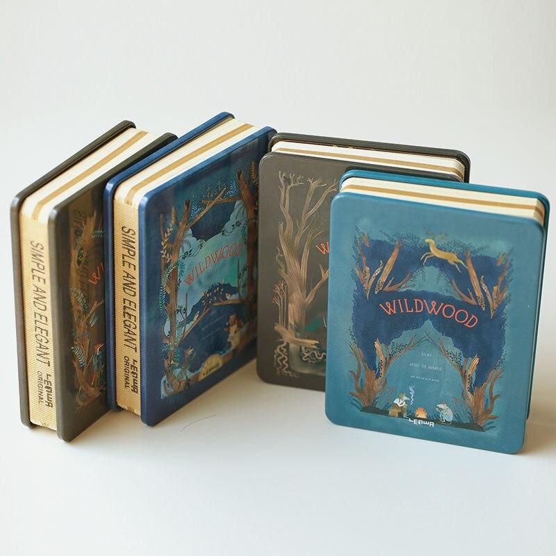 Luxury Metal Cover Notebook Magic WILDWOOD Series Hardcover Blank Notebook for Gift DIY Stationery кейс для диджейского оборудования thon case for xdj rx notebook