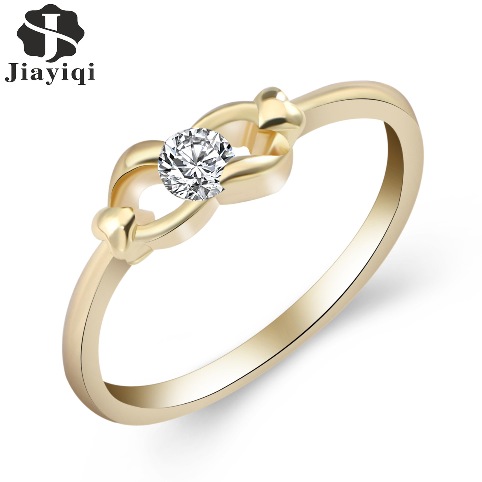 2017 Fashion Ring For Valentine Gift Design Gold Color Ring Crystal Cubic  Zircon Engagement Rings For