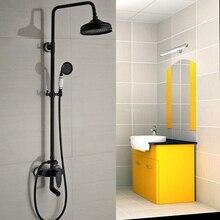 Good Quality Bathroom Shower Faucet Set Swivel Tub Spout Brass Ceramic Handheld Shower Single Handle