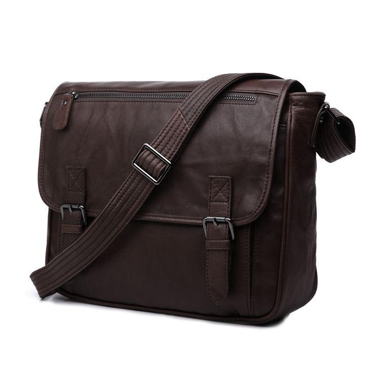 Nesitu Promozione di Alta Qualità di Caffè Dell'annata 100% di Garanzia Reale Vera Pelle di Vacchetta Uomini Messenger Bags # M7022