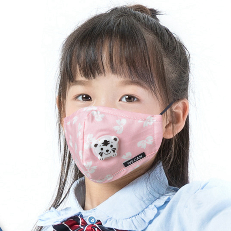 1pc Face Mask Anti Pollution Dust Respirator Reusable Masks PM2 5 Children  Cotton Cartoon Mouth Muffle Face Mask Windproof