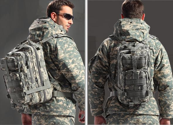 ФОТО High quality 2016 Men Women Outdoor Military Army Tactical Backpack Molle Camping Hiking Trekking Camouflage Bag Travel Backpack