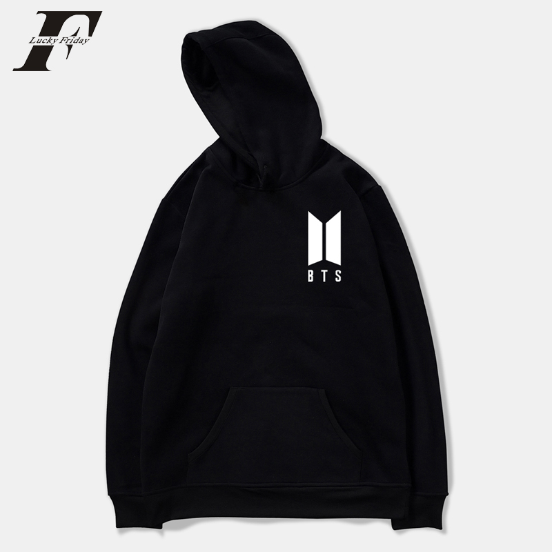 LUCKYFRIDAYF 2018 BTS Kpop Love Yourself Hoodies Harajuku Fashion Bangtan Boys Sweatshirt SUGA V JUNG KOOK Casual Cotton Korean