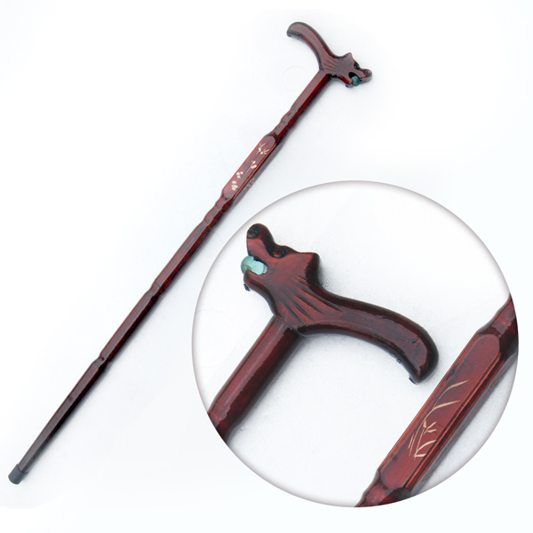 dies Walking stick red leading wood products to help the elderly birthday gift for a special offer wholesale stick filial piety elderly [] every day special offer round wooden wood old civilization civilization battle walker stick