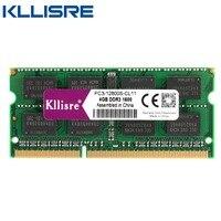 Kllisre DDR3 Laptop 2GB 4GB 8GB 1333 1600 MHz Memoria Ram Notebook Memory