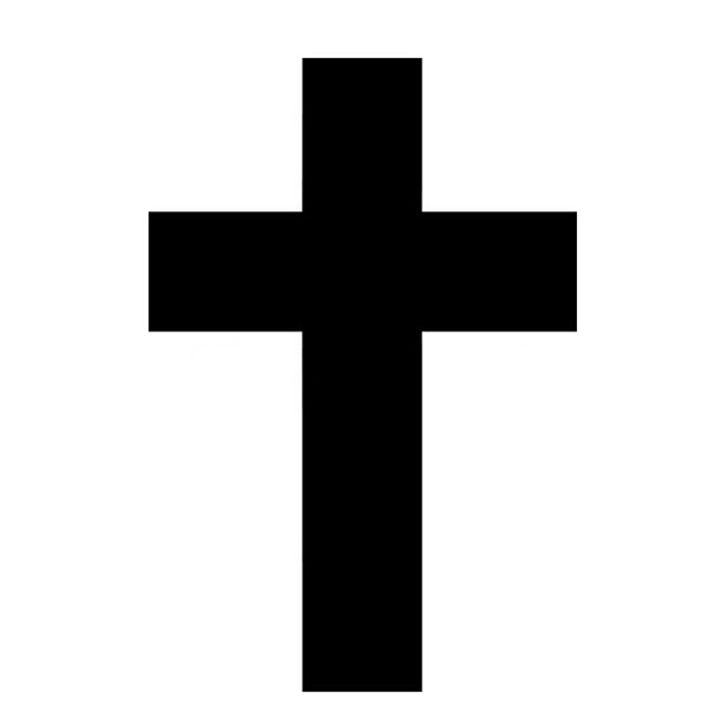 Autocollants Reflechissants De Style De Voiture Croix Catholique Voiture Autocollants Reflechissants Accessoires Moto Noir Argent 6 7 10cm Aliexpress
