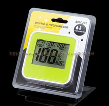 Wholesale Smile Face Kitchen Living Room Bathroom Digital Thermometer Hygrometer with Magnet Indoor Temperature Humidity Meter