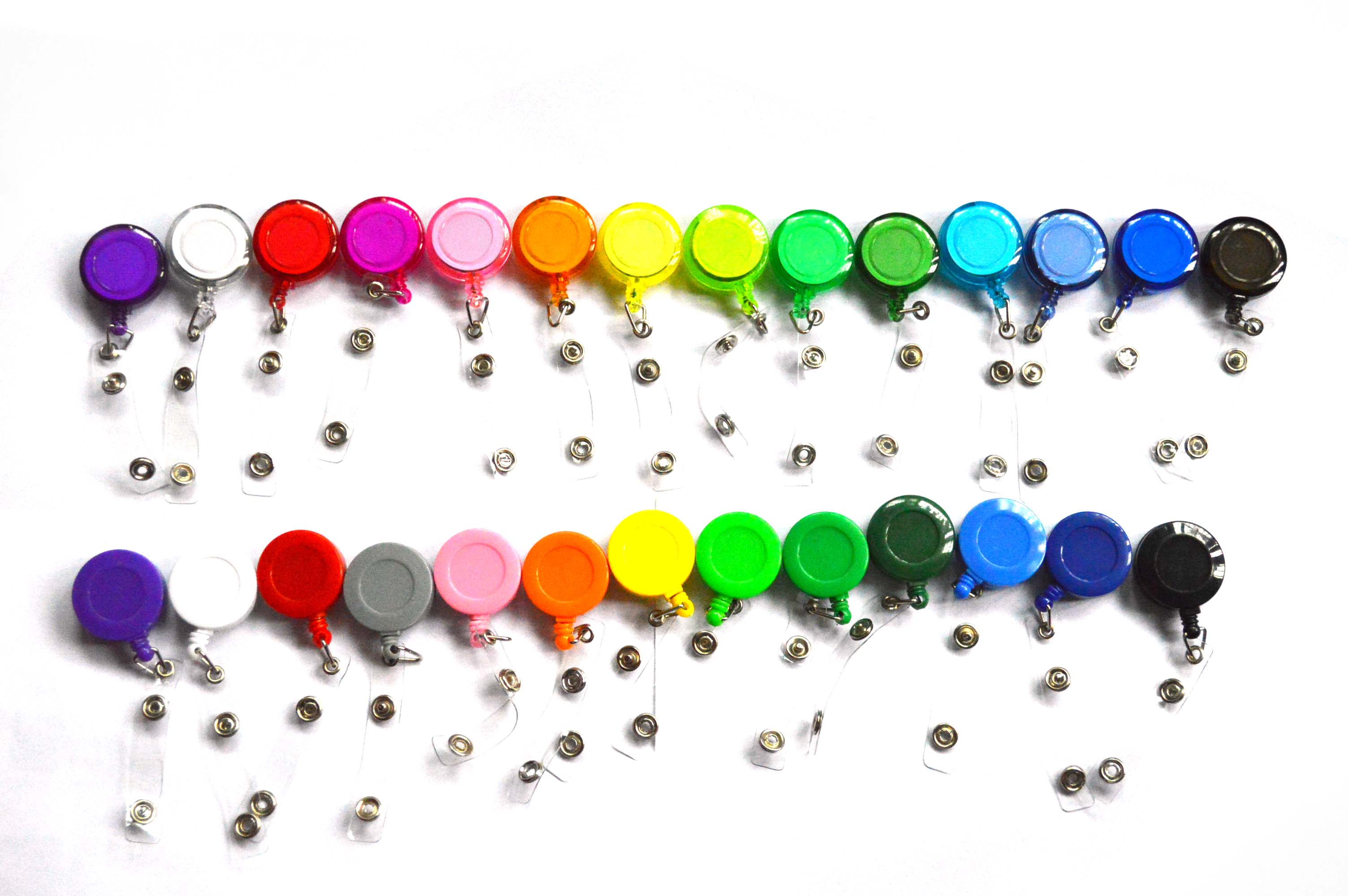 10pcs/lot 27 Colors Office & School Supplies Badge Holder Retractable Ski Pass ID Card Badge Name Tag Holders  Anti-Lost Clip