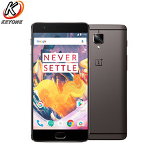 OnePlus 3 T A3003 4G LTE мобильный телефон 5,5 «6 ГБ ОЗУ 128 Гб ПЗУ Snapdragon 821 четырехъядерный 3400 мАч 16.0MP телефон с распознаванием отпечатка пальца