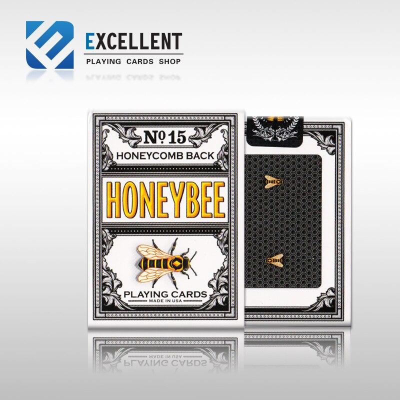 1 pcs black honey bee us imports playing card new sealed honeycomb back magician favorite poker. Black Bedroom Furniture Sets. Home Design Ideas