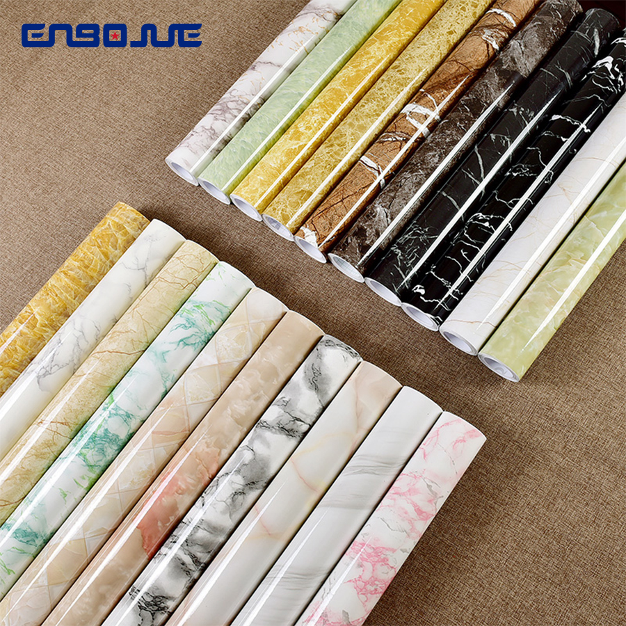 0 4x3M Marble Pattern Stickers Refrigerator Wall Sticker TV Background Wallpaper Self Adhesive Furniture Diy Decorative Film in Wall Stickers from Home Garden