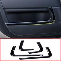 4Pcs Auto Inner Side Door Molding Decoration Strip Trim For Land Rover Range Rover Sport L494 2014 2018 Car Interior Accessories