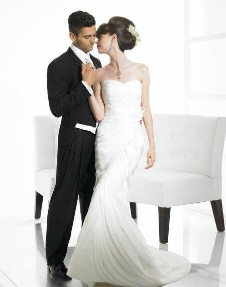 82c3ad7572af51 inbal dror marriage vestido noiva wedding gown Organza mermaid sweetheart open  back lace-up sweep train vintage wedding dress